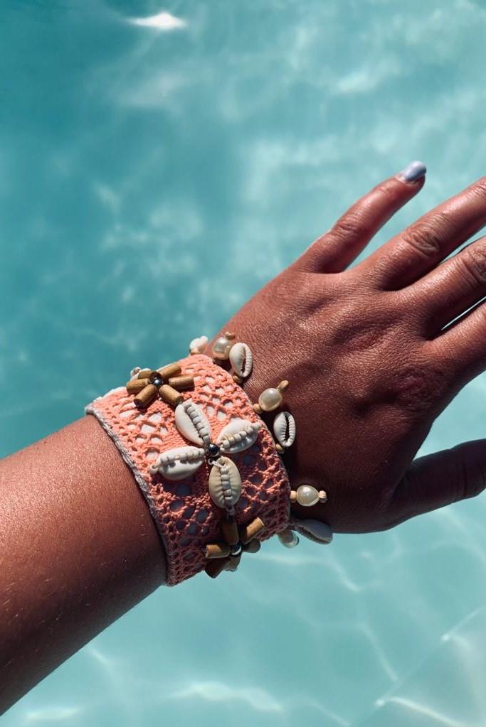 Hot Lava Lush Bracelet Coral-Uniek-Koraal