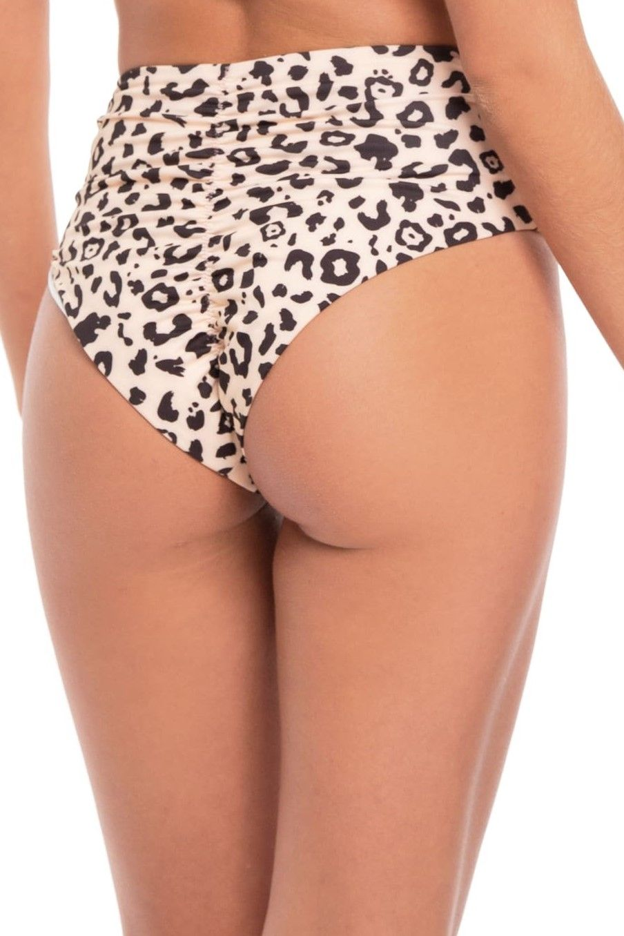 Milonga  Jaguar High Waisted Bikini Bottom Animal Print
