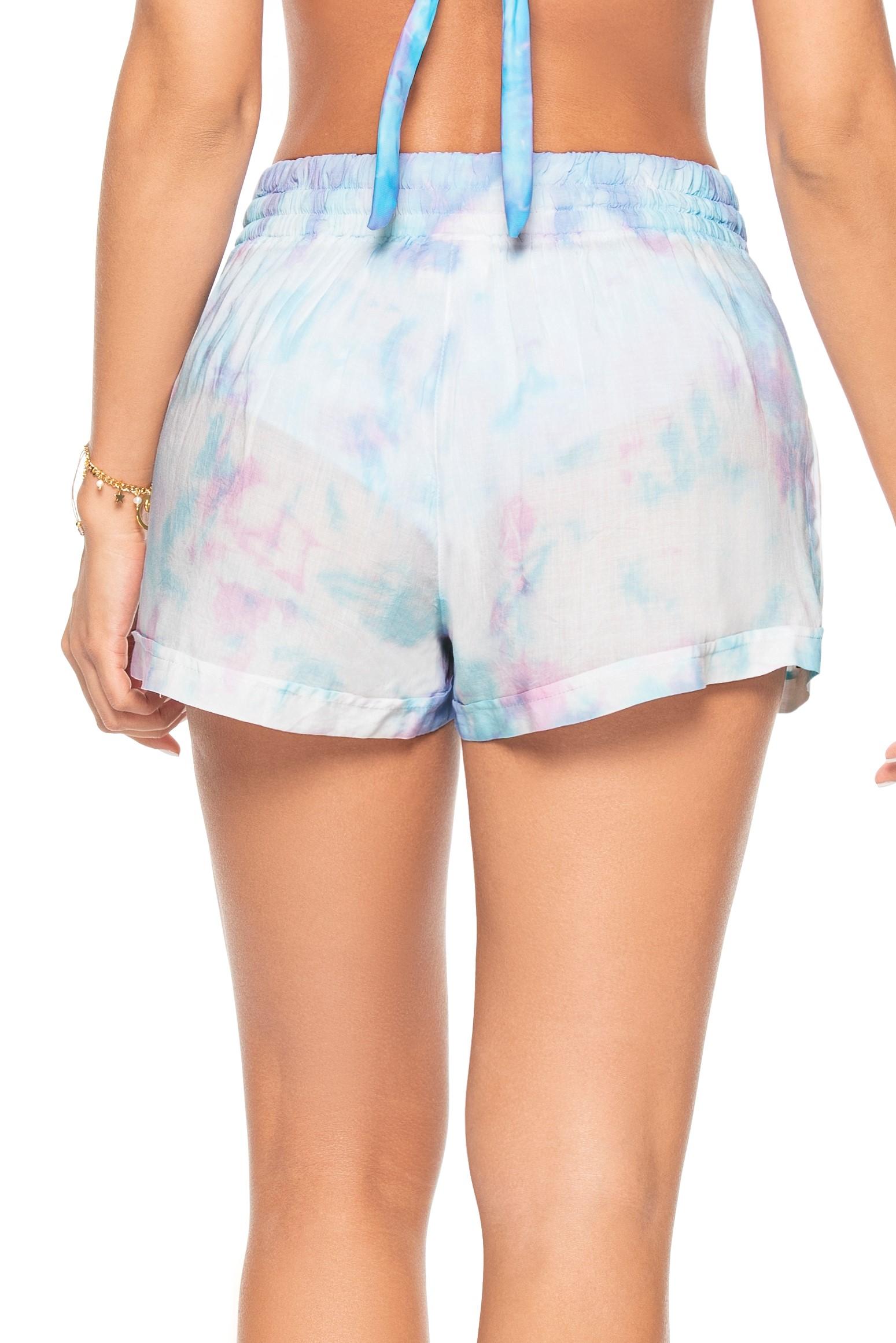 Phax Bella Iceland Blauwe Tie Dye Strand Short