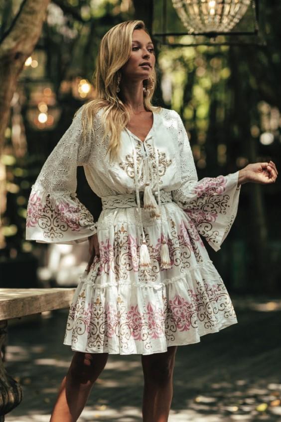 Miss June White Short Dress Dreamer-Uniek-Wit
