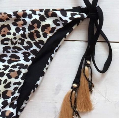 Jaguar Halter Bikini Black