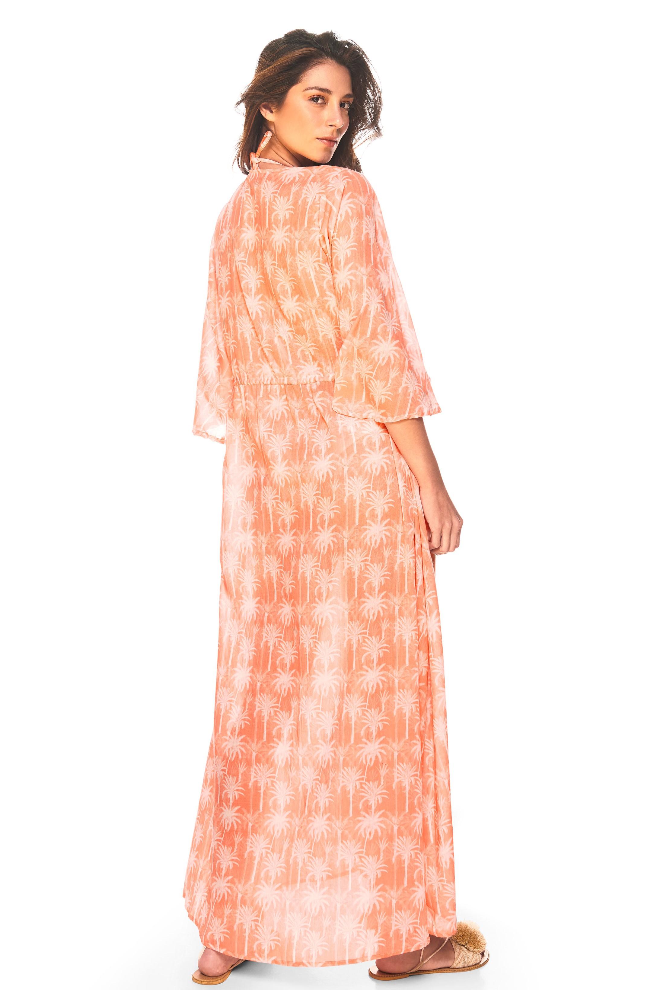 Cosita Linda Pacifico Lange Strand Kimono Zalmroze