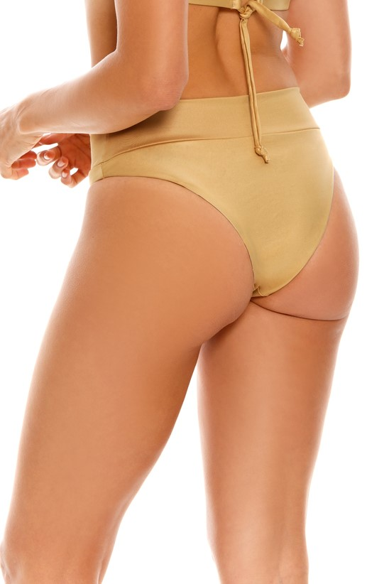Milonga Palette High Waisted Bikini Bottom Gold