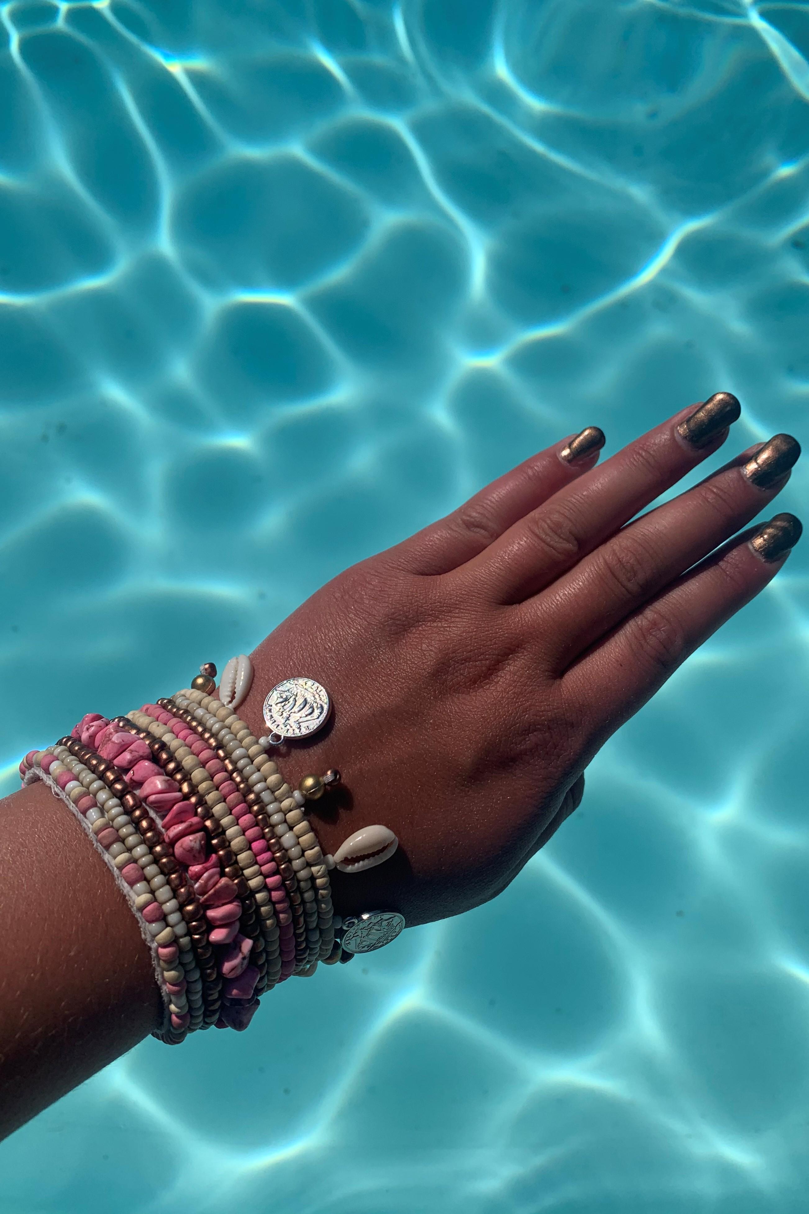 Hot Lava Indy Bracelet Pink-Uniek-Roos