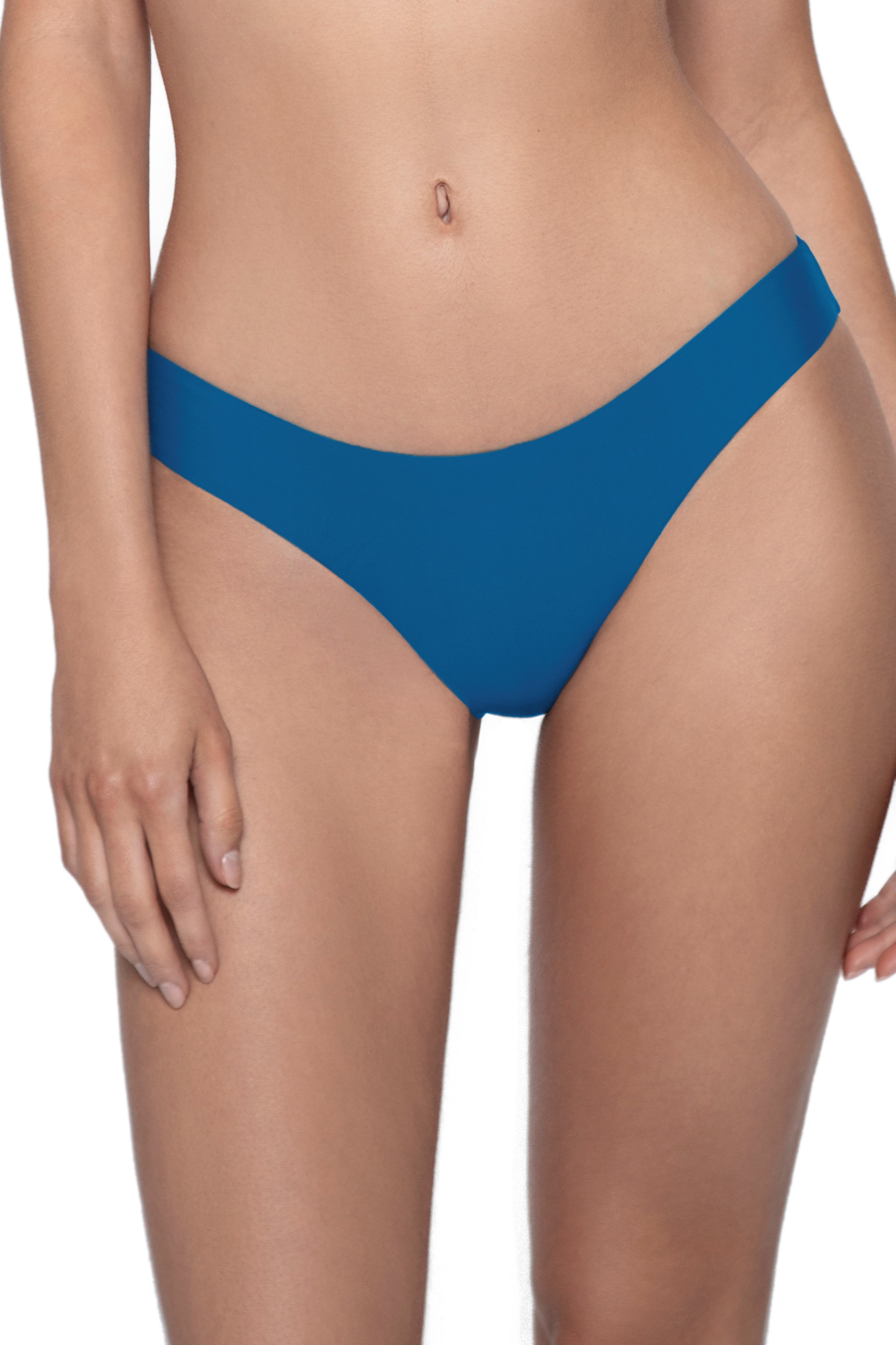 Pilyq Swim Island Scrunch Bikini Broekje Petrol Blauw
