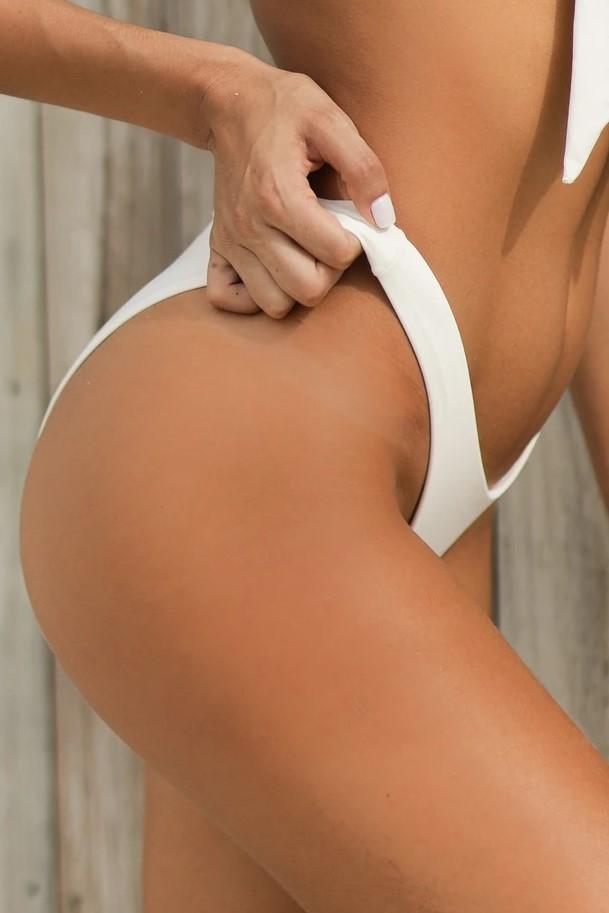 Almamia Wit Scrunch Bikini Broekje