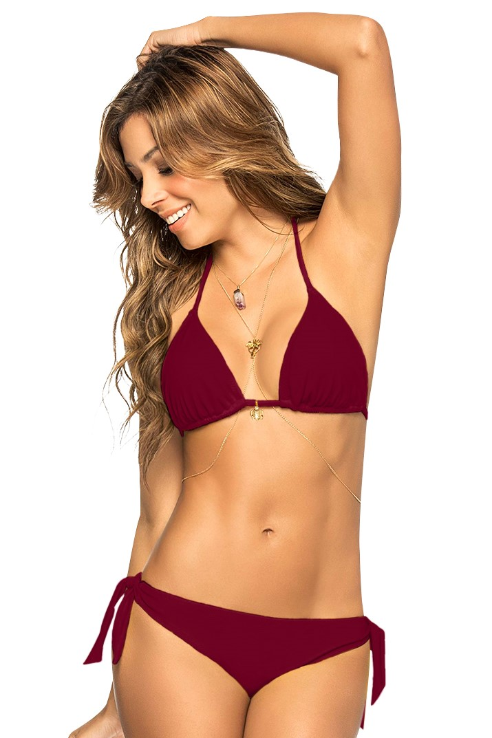 Phax Triangle Bikini Wine Red