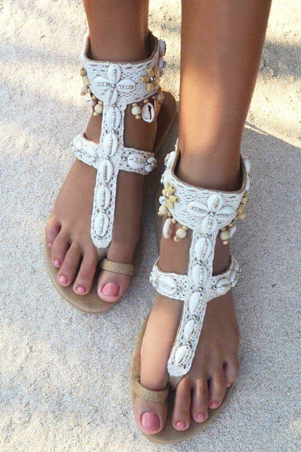 Hot Lava Sandals Lush Ivory-40-Ivoor