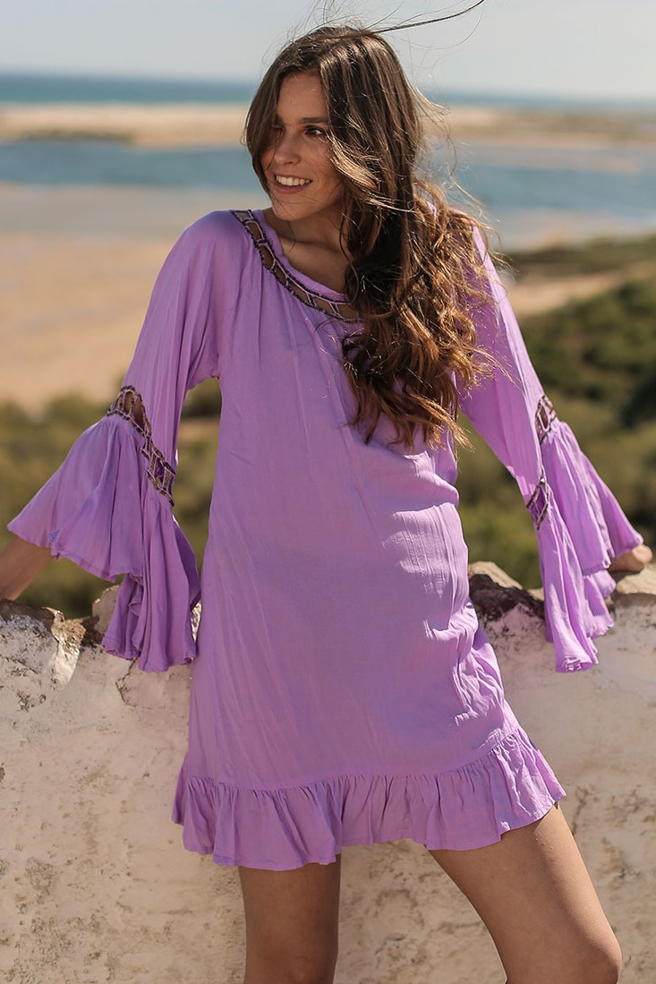 Beach Fashion Only Anguilla Kaftan Lilac-Uniek-Lila