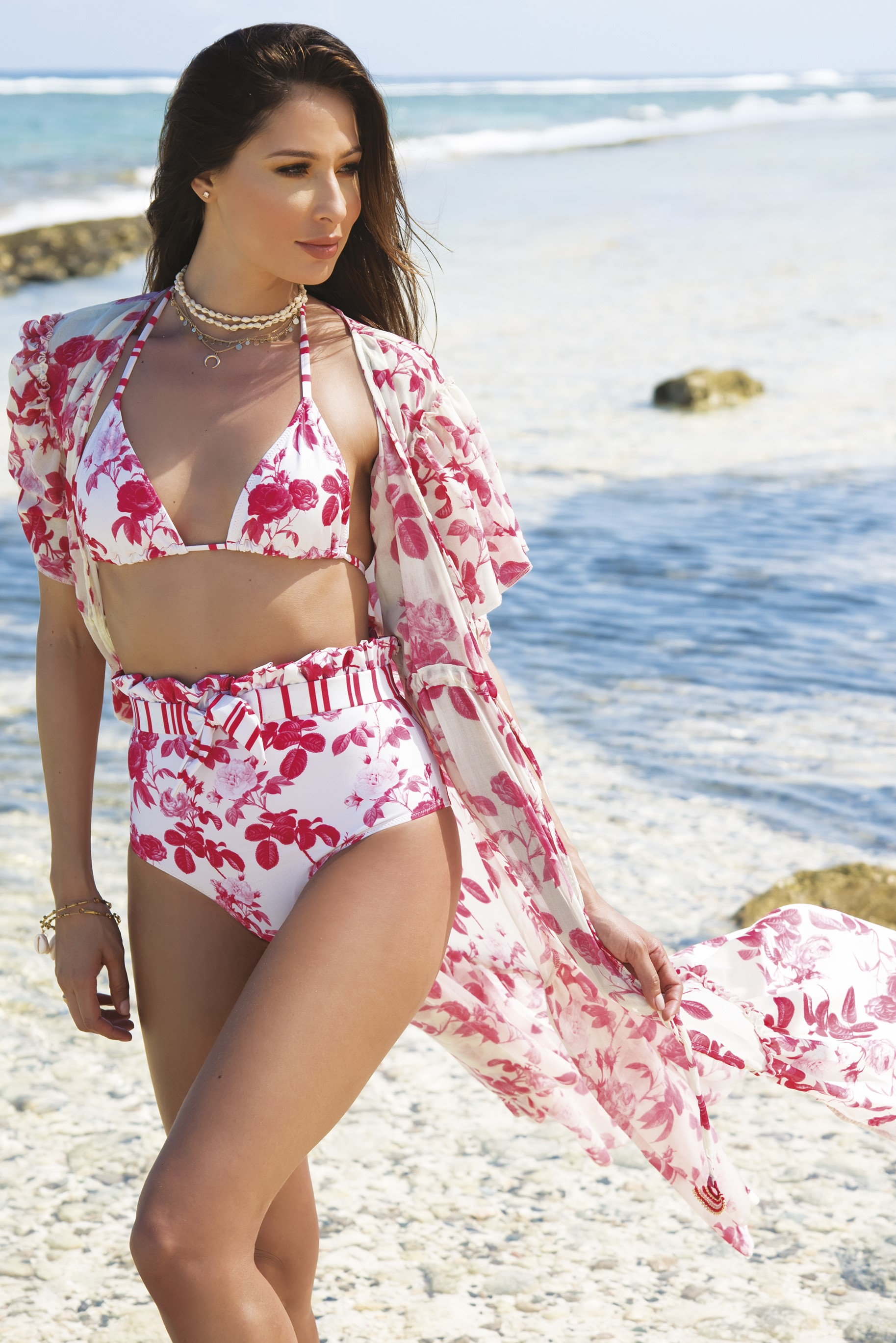 Milonga Camelia Beach Cover Up -Uniek-Multicolour