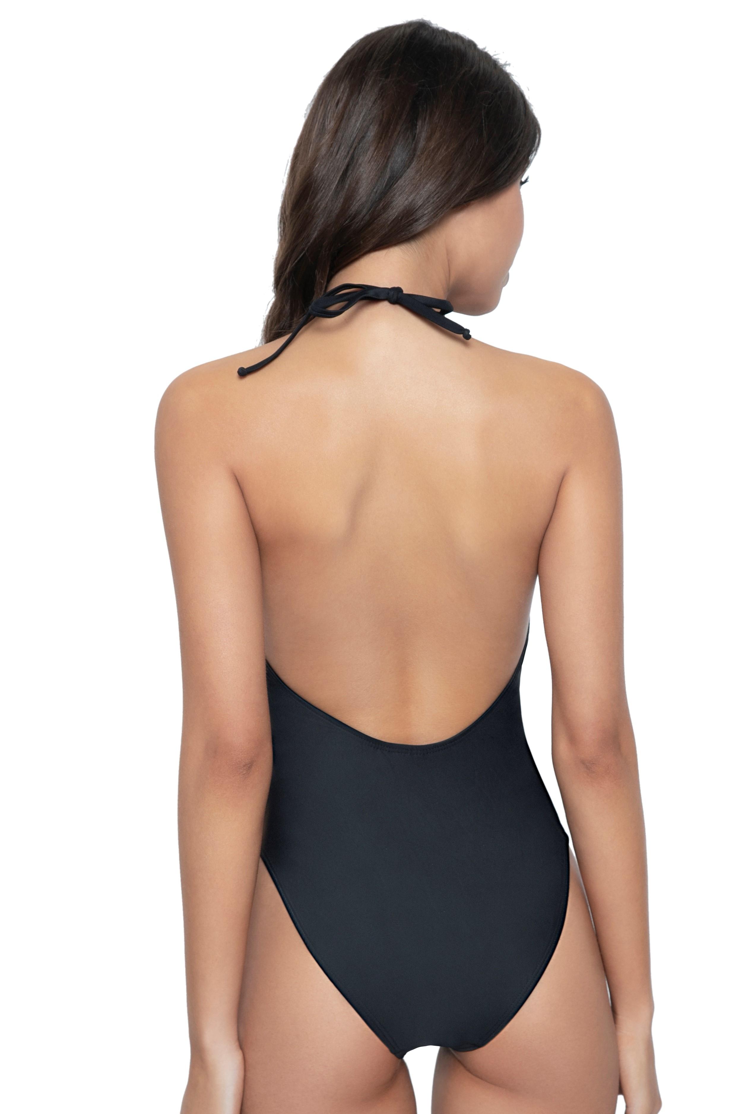 Pilyq Swim Midnight Lace High Neck Swimsuit