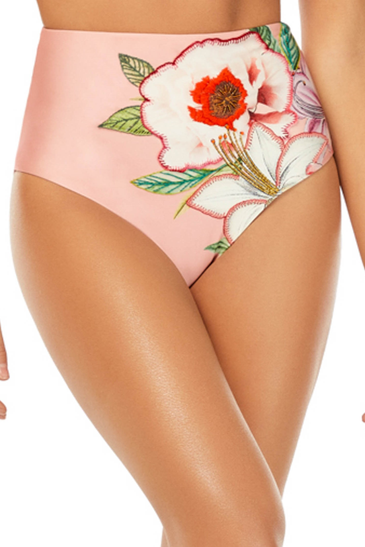 Cosita Linda Still Garden High Waisted Bikini Bottom
