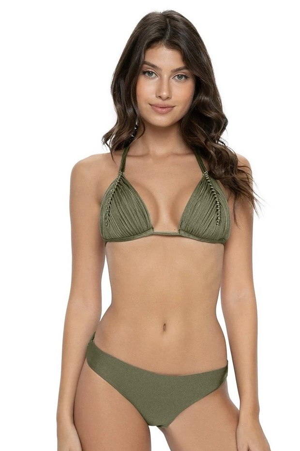 Pilyq Swim Moss Isla Triangel Bikini Khaki Groen