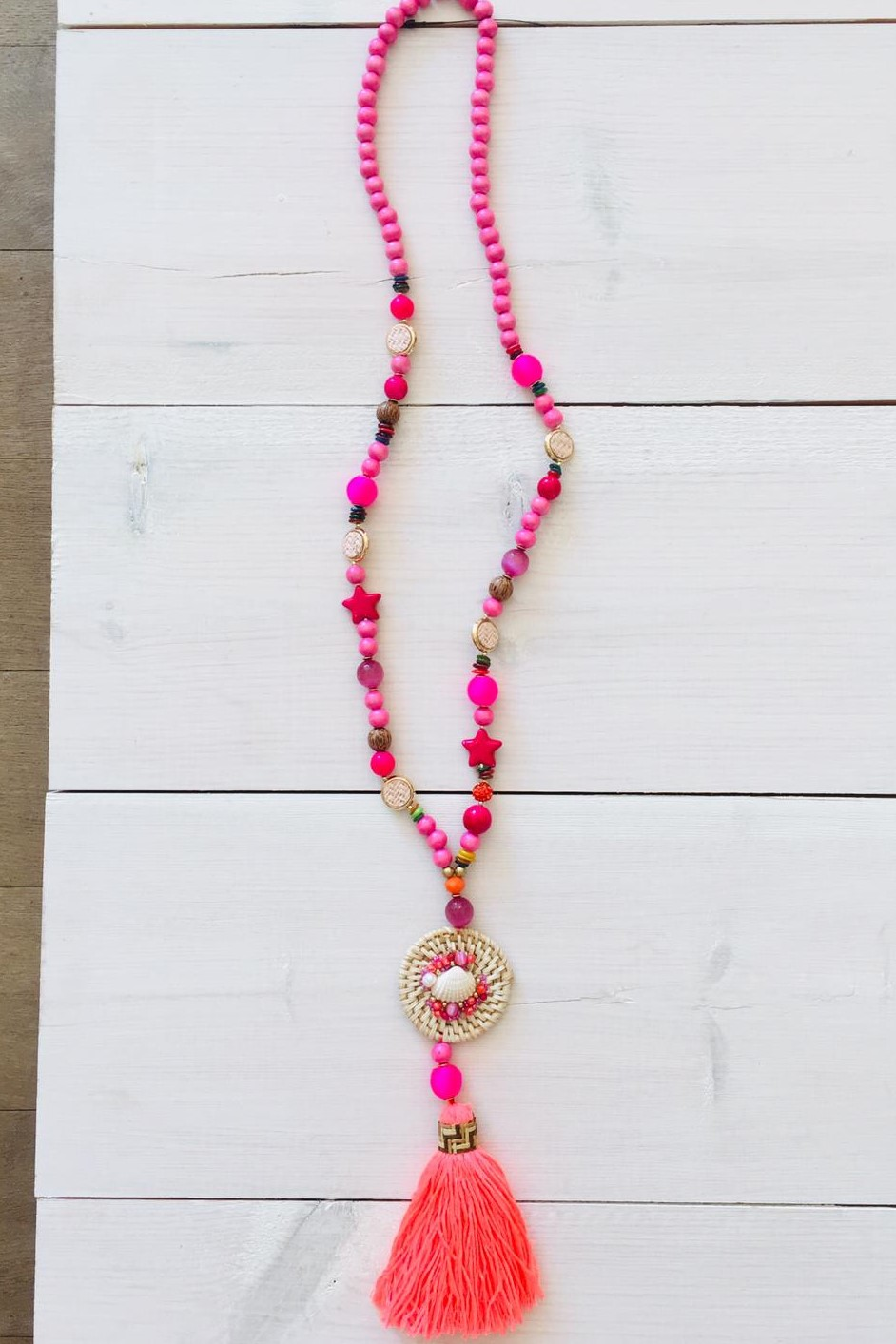 Collier Coquillage Rose