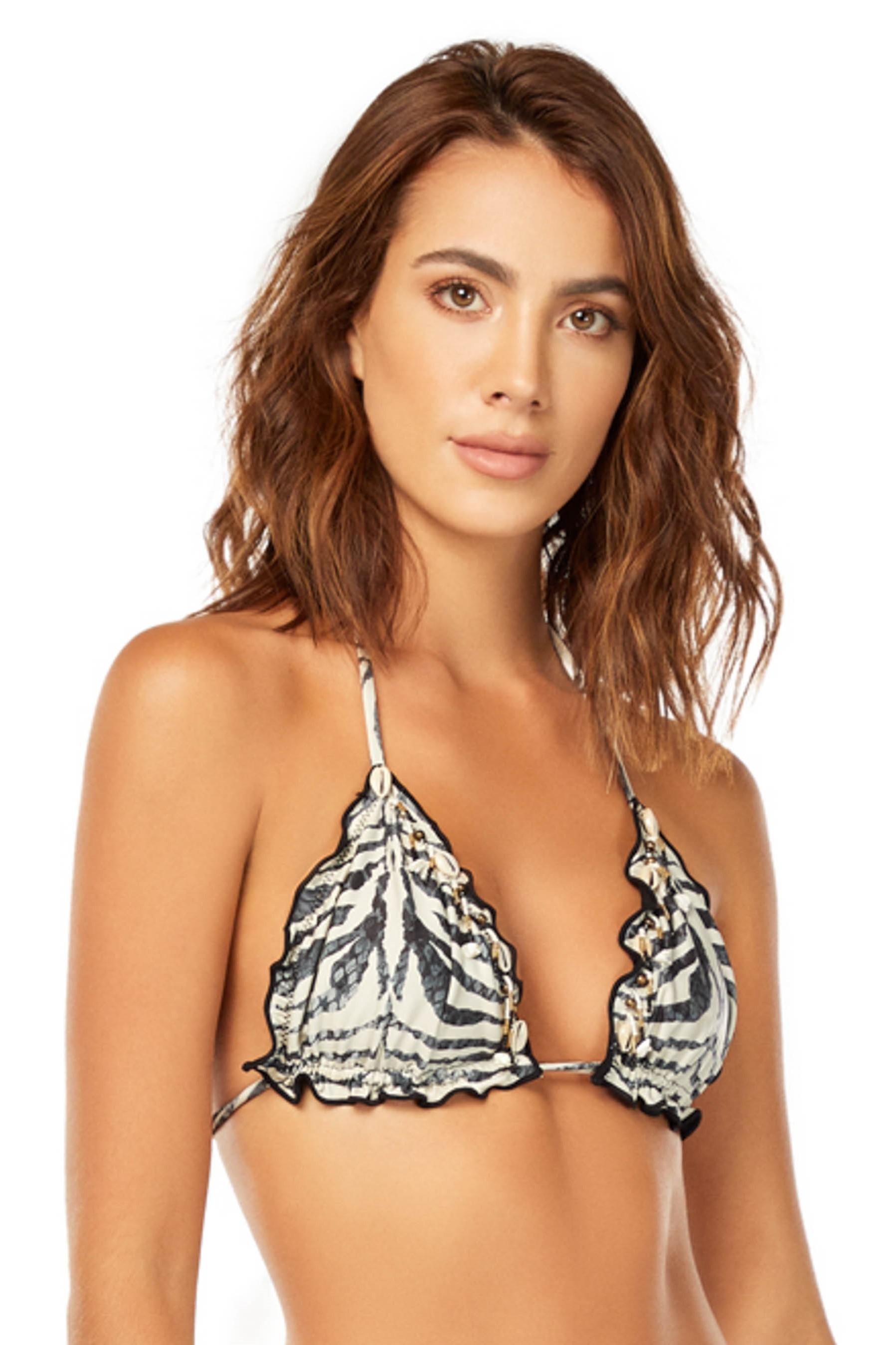 Cosita Linda Zebra Triangel Bikini Top