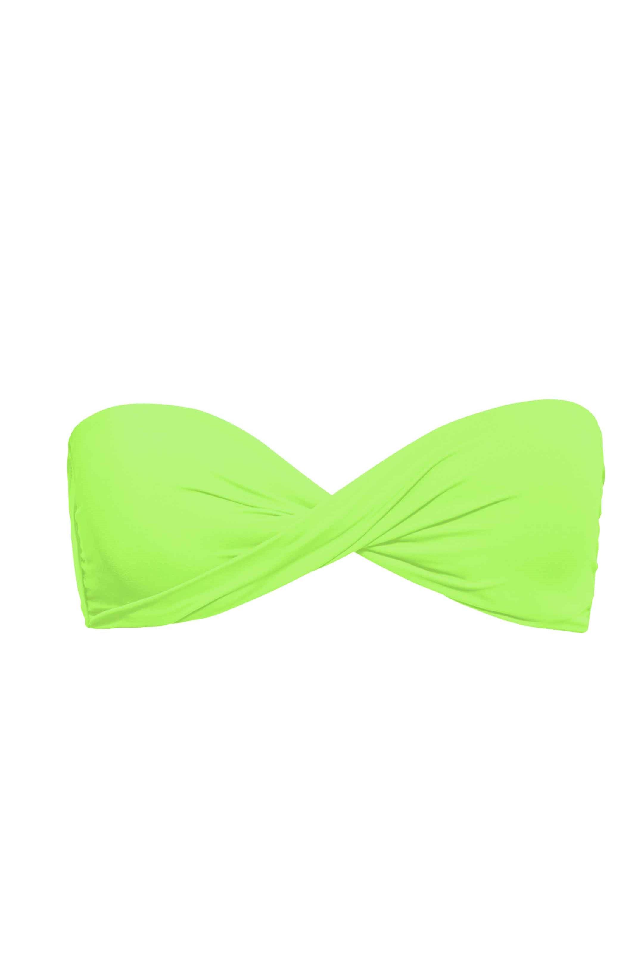 Phax Color Mix Twist Bandeau Haut de Maillot de bain Vert Fluo