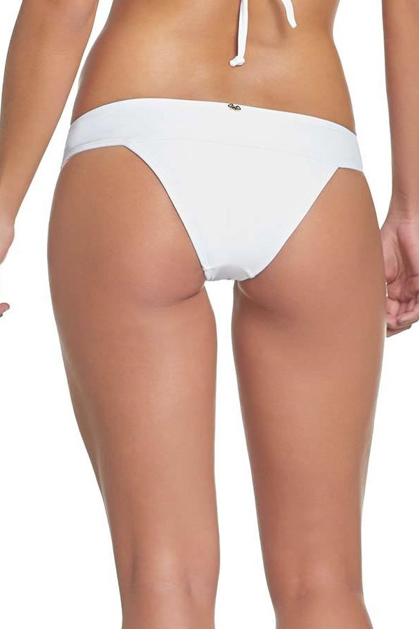 Pilyq Swim Water Lily Lace Banded Bikini Bottom White
