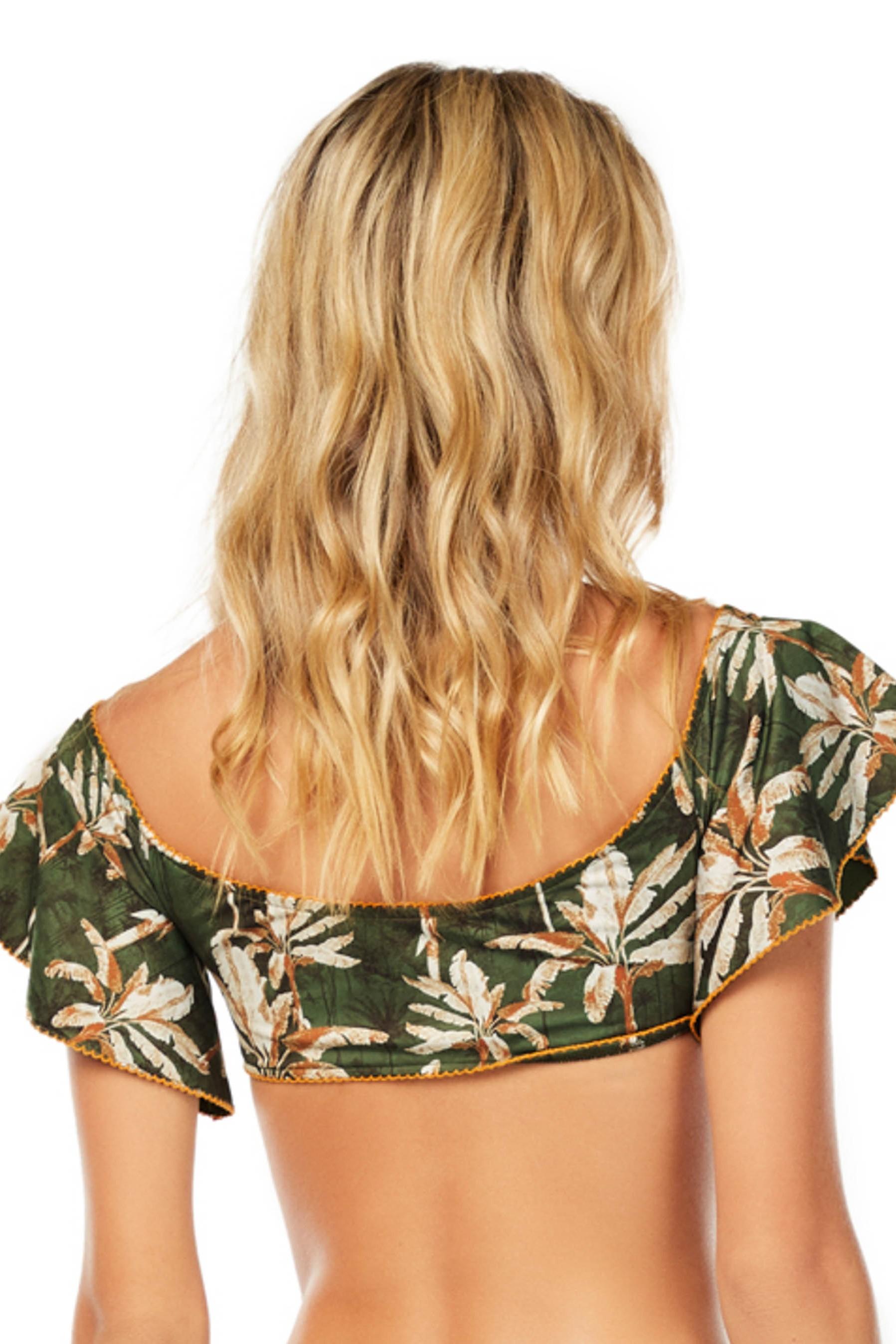 Cosita Linda Haere Mai Off Shoulder Sleeve Bikini Top
